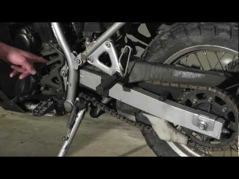 KLR 650 Maintenance: Chain Slack Adjustment