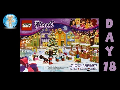 LEGO Friends Advent Calendar 41102 Day 18 Stop Motion Animation Build - Family Toy Report