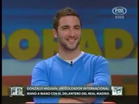 Gonzalo Higuain en Fútbol para todos (Fox Sports) 14 de Junio - PARTE 1