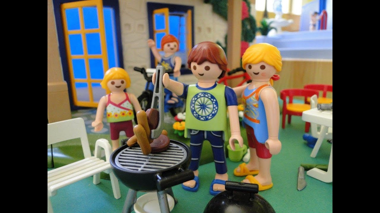 Playmobil maison house film movie youtube for Piscine playmobil