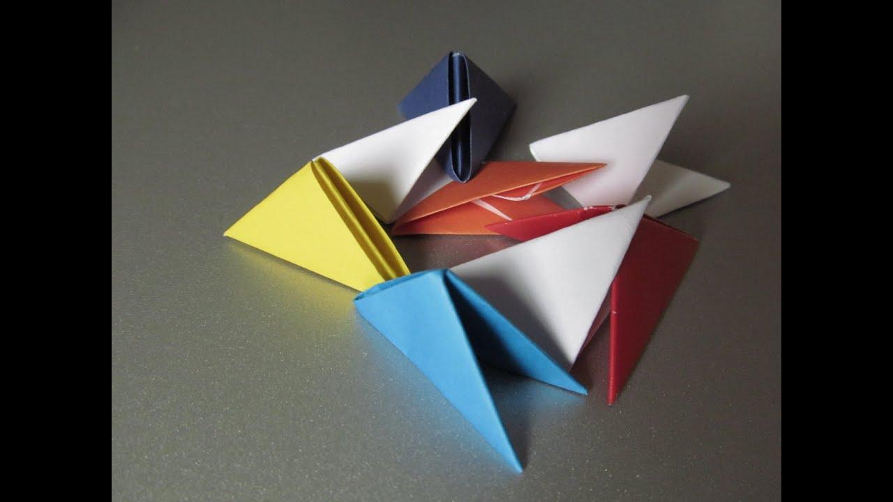 Как сделать треугольные модули для модульного оригами - YouTube