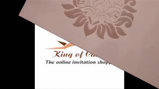 Charming Peach Shading With Laser Cut Theme Box Wedding Invitation Card - KPR04530