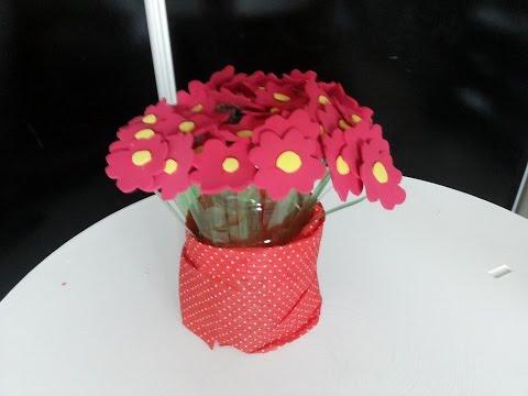Como Fazer Flor em EVA e Garrafa Pet