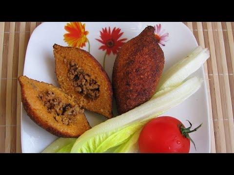 İçli köfte. Котлеты с начинкой (Ичли кёфте), турецкая кухня.