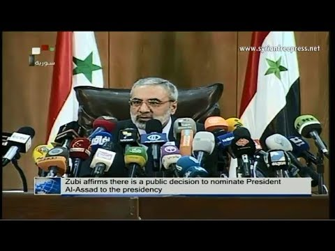 Syria News 7/1/2014, President Al-Assad's running for presidency supported by Syrians