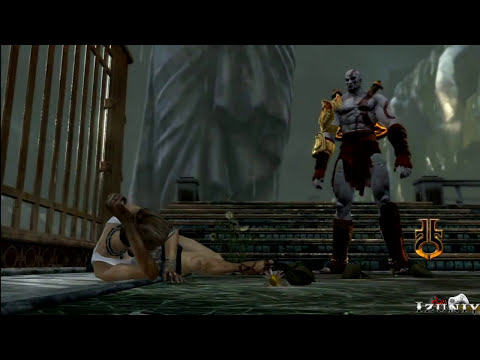 God of War 3 Kratos Destroy Hera - Helios and Hephaestus Ruthless Kills