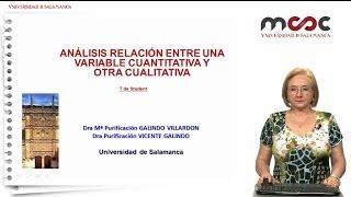 Análisis de la relación entre dos variables, cualitativa y cuantitativa: T de Student Módulo 5