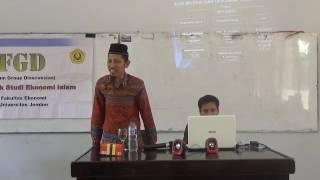 GUS WADUD :  DIALOG PADA WORKSHOP EKONOMI ISLAM