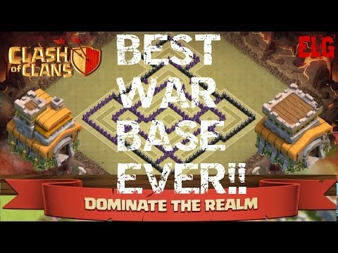 Clash of clans best trophy war base th7 and th8 defensive base ever