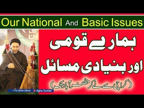 ہمارے قومی  اور بنیادی مسائل.....مولانا سیّد شہنشاہ حسین نقوی (Our National And Basic Issues)
