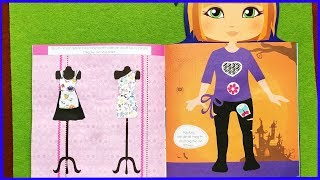 Đồ chơi bé gái dán hình trang điểm váy đầm công chúa Mimi, Quiet book for girl (Chim Xinh)