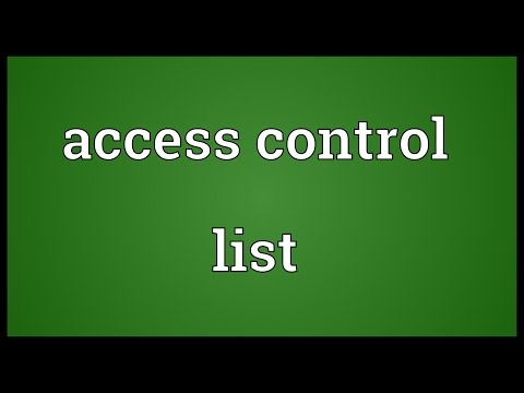 Header of Access Control List