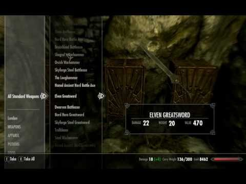 Elder Scrolls V Skyrim Cheats - Testing Room with All Items AKA Testing Hall
