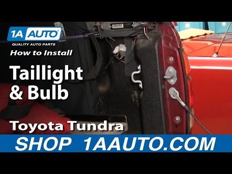 How To Install Replace Taillight and Bulb Toyota Tundra 00-04 1AAuto.com