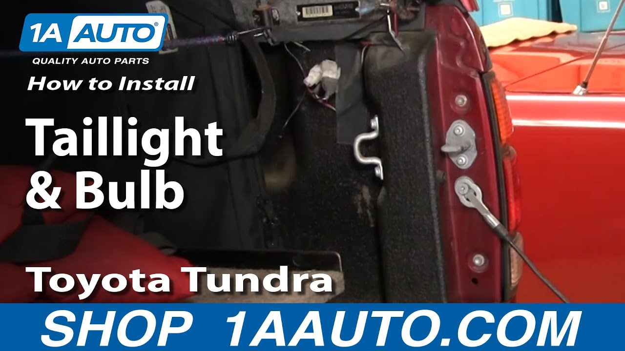 how to install replace taillight and bulb toyota tundra 00. Black Bedroom Furniture Sets. Home Design Ideas