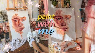 Painting a LARGE portrait *for the first time* \ Jim Ren #paintwithme
