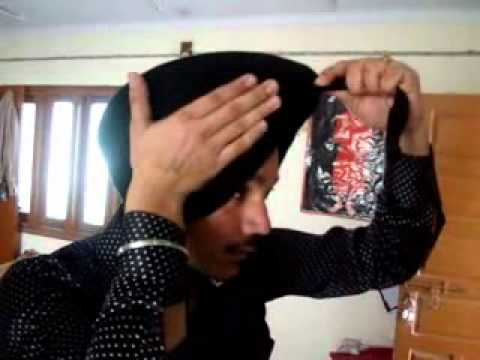 Modern Style Punjabi Turban Tutorial - Part 1 (Bathinda) 94635...