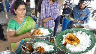 Cheapest Roadside Unlimited Meals   Indian Street food   Journey For Food