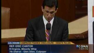 Republican Whip Eric Cantor: The American People Have Spoken: Stop The Spending