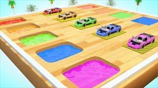 Johny Johny Yes Papa | Learn Colors With Painting Street Vehicles