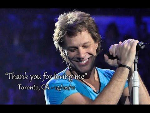 Bon Jovi  Thank you for Loving Me  140211 Toronto, CA  Multicam