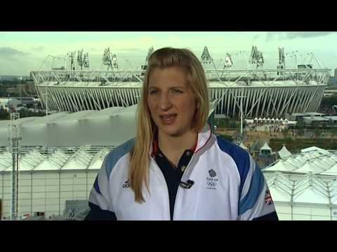 Rebecca Adlington talks after winning her second Bronze medal of London 2012