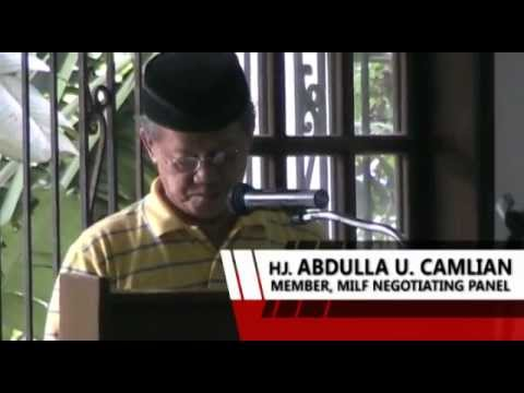 Peace Forum on the GPH-MILF Peace Negotiations - Video Correspondence - Karl Ramirez