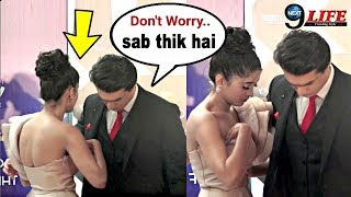 Mohsin Khan Saves Girlfriend Shivangi Joshi's EMBARASSING Moment | Yeh Rishta Kya Kehlata Hai