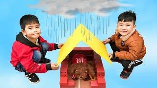 Trò Chơi Làm Nhà Cho Thú Cưng ♥ Min Min TV Minh Khoa