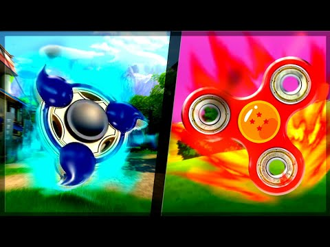 FIDGET SPINNER DO DRAGON BALL VS SPINNER DO NARUTO no MINECRAFT