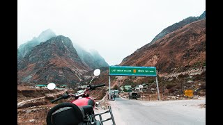 MANA VILLAGE & BADRINATH TEMPLE FULL TOUR   400 KMS IN PYJAMAS AND SLIPPERS ON BULLET   DAY2 PART2