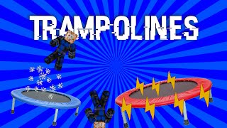 Trampolines in minecraft| w/ only one command