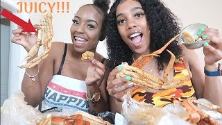 Seafood Mukbang w Clams, shrimp, and crabs ft. Lexy!