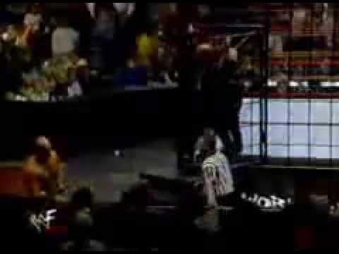 Stone Cold Steve Austin vs Vince McMahon Steel Cage Part 1