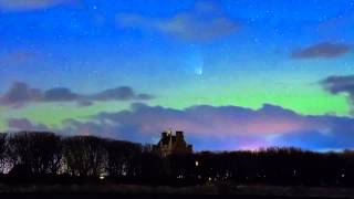 Comet PanSTARRS over Ackergill Tower.