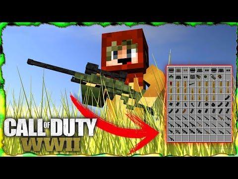 Call of duty ww2 Mod Para Minecraft 1.12.2 Armas 3D con animación y sonidos muy op
