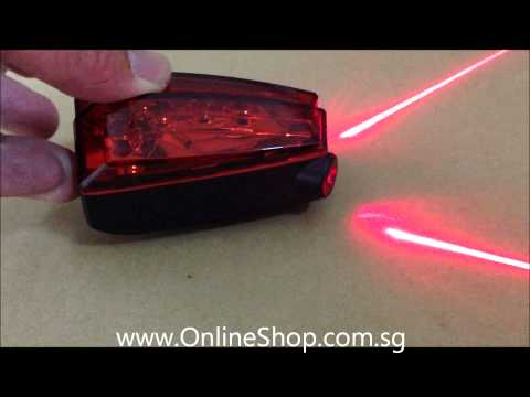 """Mark my lane"" Laser Bicycle Light"
