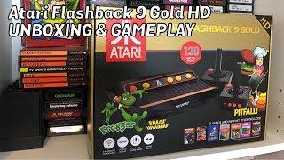 AtGames ATARI FLASHBACK 9 GOLD HD, Unboxing & Gameplay, Review - Emceemur