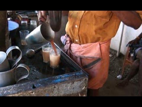 Acrobatic tea mixing, Tea shop, Kerala