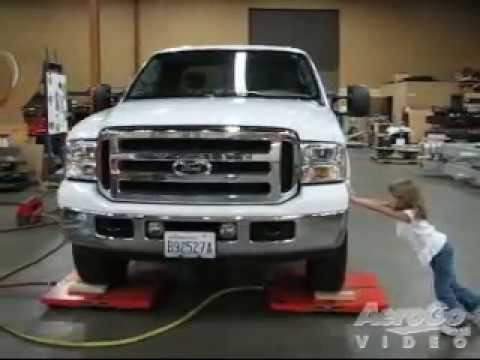 AeroGo Air Casters - Two Small Girls Move Big Ford Truck- High Resolution Video