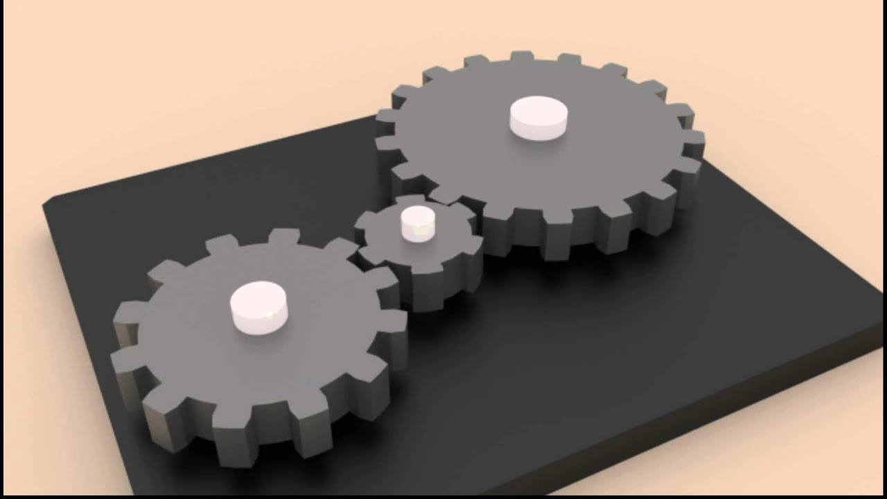 simple gear train animation using blender
