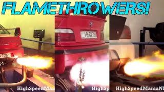 The ULTIMATE Flamethrowing Cars COMPILATION! - [ 2015 ]