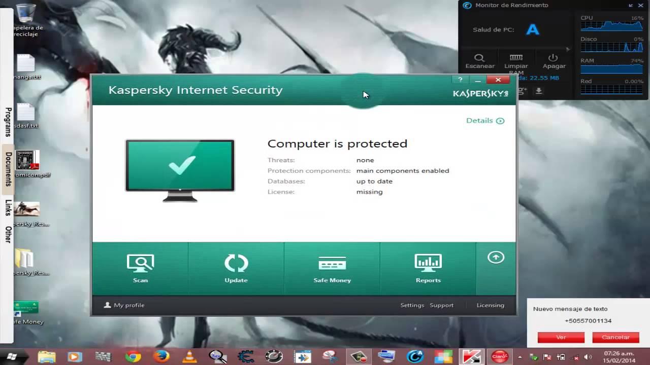 Kaspersky internet security 8.0.0.33 alpha 1 key app