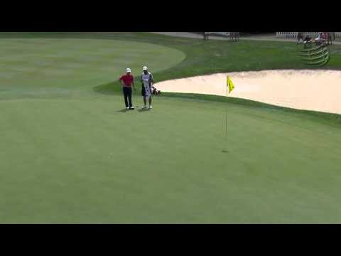 Pablo Larrazabal's impressive par save on No. 15 at Bridgestone