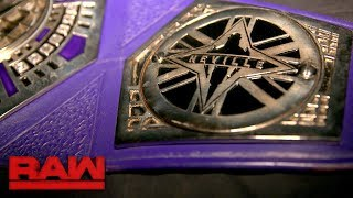 Neville's WWE Cruiserweight Title gets the royal treatment: Exclusive, Aug. 21, 2017