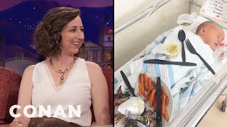 Kristen Schaal Has A Big Baby  - CONAN on TBS