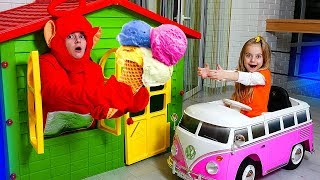 Girl and Friend Play with Ice cream Nursery Rhymes Song for Kids