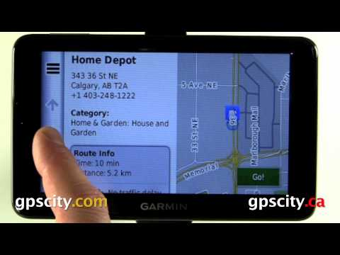 Garmin nuvi 2555 and nuvi 2595  Where To? menu with GPS City