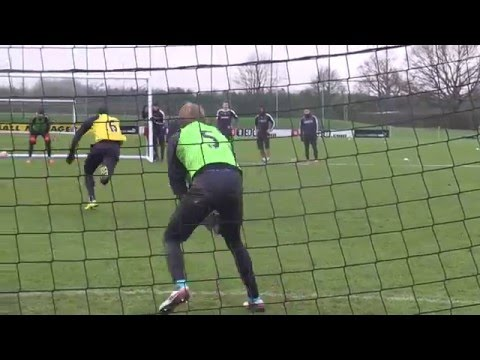 TRAINING: Hornets goalkeepers prepare for FA Cup tie