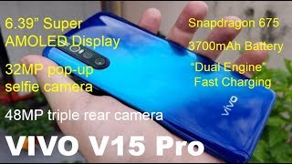 VIVO V15 PRO World's first 32MP pop-up selfie camera and 48MP triple rear camera unveiled.
